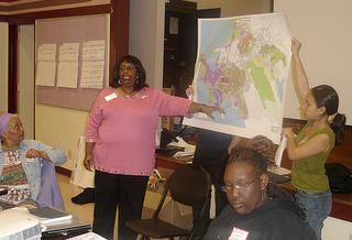 Richmond residents participating in a general plan update meeting (photo by Diana Abellara)